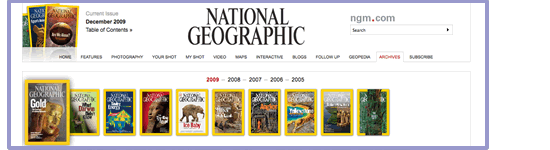 National Geographic Magazine Cover Archives Web Site